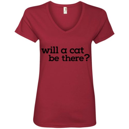 Will A Cat Be There V-Neck Tee