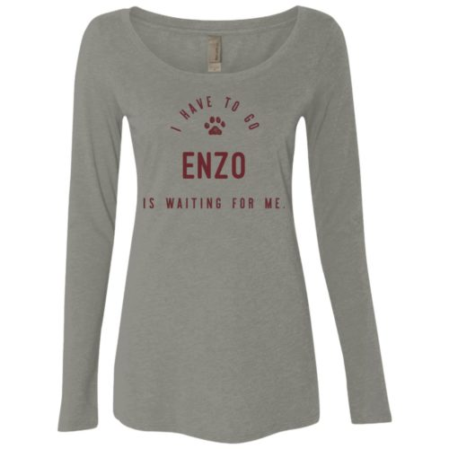 I Have To Go Personalized Fitted Scoop Neck Long Sleeve