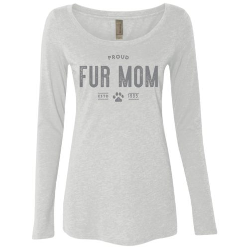 Proud Fur Mom Personalized Fitted Scoop Neck Long Sleeve
