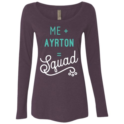 Squad Personalized Fitted Scoop Neck Long Sleeve