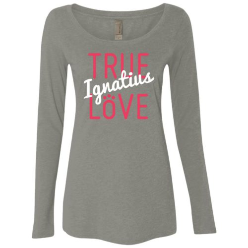 True Love Personalized Fitted Scoop Neck Long Sleeve