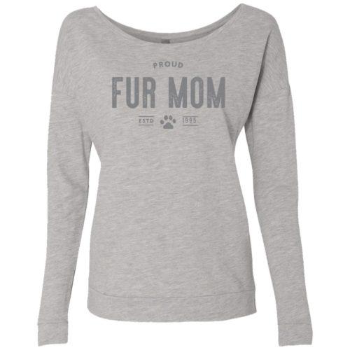 Proud Fur Mom Personalized Ladies' Scoop Neck Sweatshirt