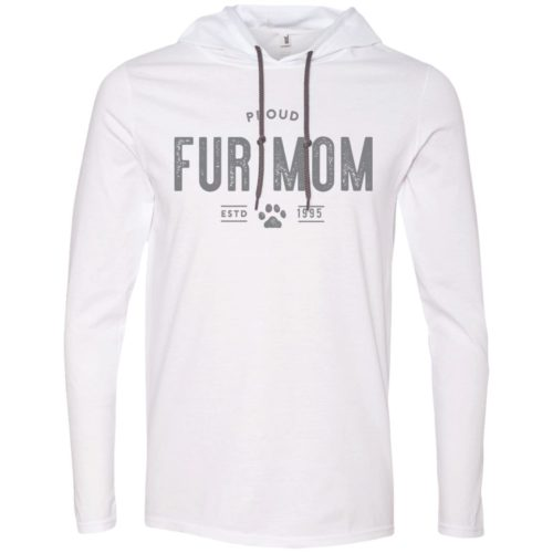 Proud Fur Mom Personalized Lightweight T-Shirt Hoodie
