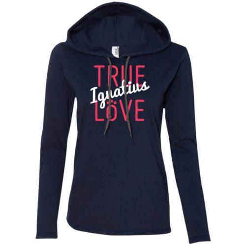 True Love Personalized Ladies' Lightweight T-Shirt Hoodie