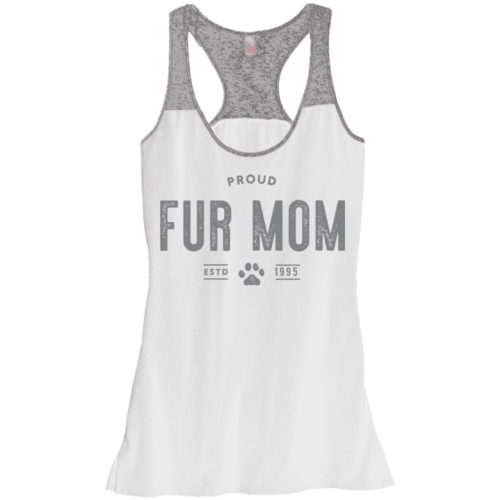 Proud Fur Mom Personalized Varsity Tank