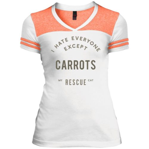 I Hate Everyone Personalized Varsity V-Neck T-Shirt