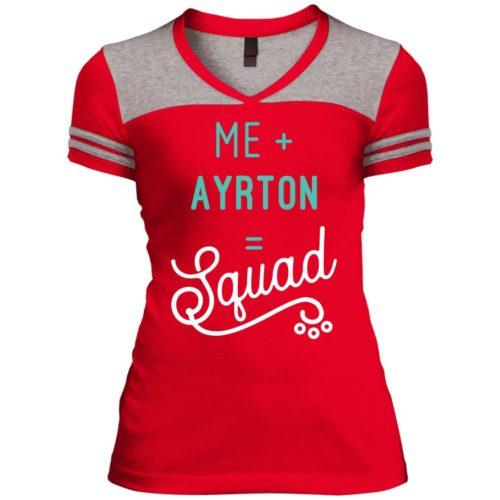 Squad Personalized Varsity V-Neck T-Shirt
