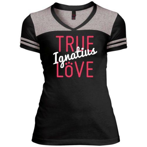 True Love Personalized Varsity V-Neck T-Shirt