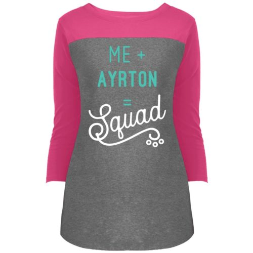 Squad Personalized Rally 3/4 Sleeve T-Shirt