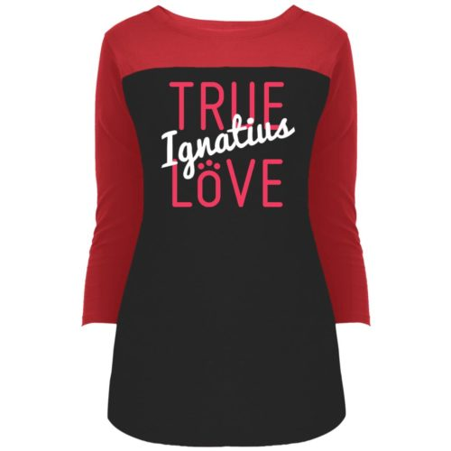 True Love Personalized Colorblock 3/4 Sleeve