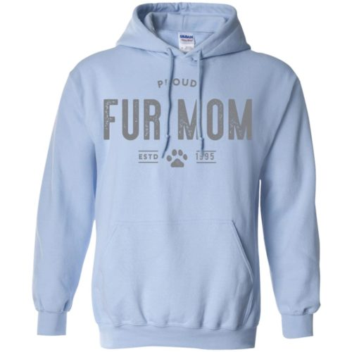 Proud Fur Mom Personalized Pullover Hoodie