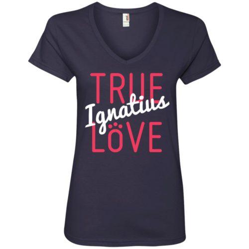 True Love Personalized Ladies' Premium V-Neck