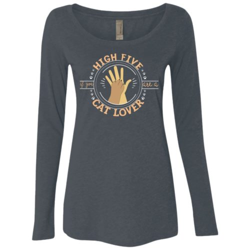 High Five Fitted Scoop Neck Long Sleeve