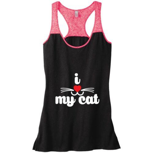 I Heart My Cat Varsity Tank