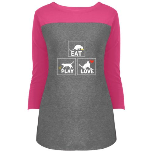 Eat Play Love Colorblock 3/4 Sleeve