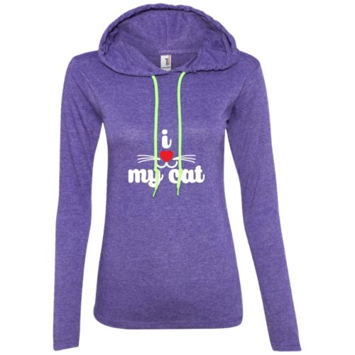 I Heart My Cat Fitted T-Shirt Hoodie