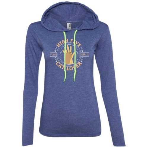 High Five Fitted T-Shirt Hoodie