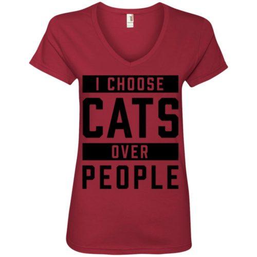 I Choose Cats V-Neck Tee