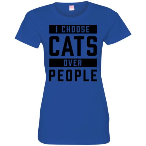 I Choose Cats Fitted Tee
