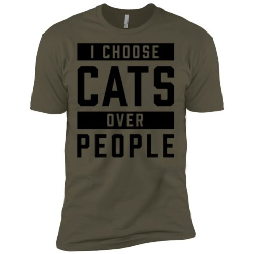 I Choose Cats Premium Tee