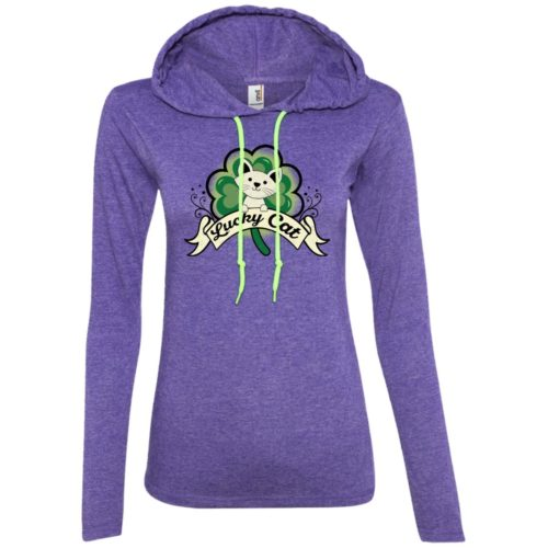 Lucky Cat Fitted T-Shirt Hoodie