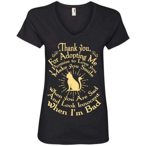 Thank You For Adopting Me V-Neck Tee