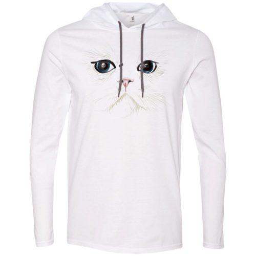 White Cat T-Shirt Hoodie