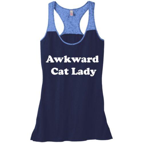Awkward Cat Lady Varsity Tank