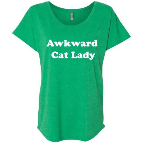 Awkward Cat Lady Slouchy Tee