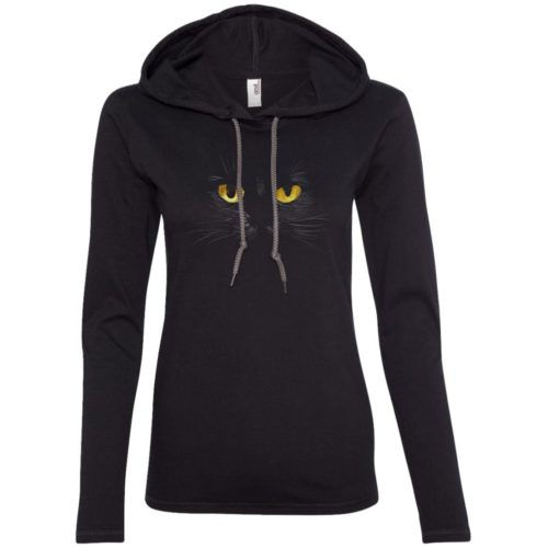 Black Cat Fitted T-Shirt Hoodie