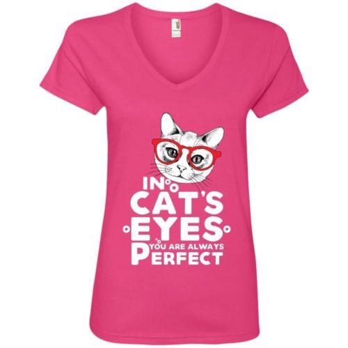 In Cat's Eyes V-Neck Tee