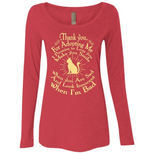 Thank You For Adopting Me Fitted Scoop Neck Long Sleeve