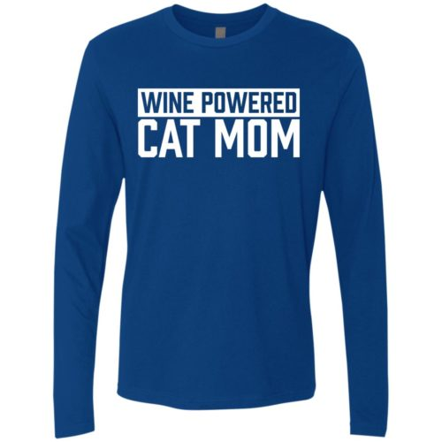 Wine Powered Cat Mom Premium Long Sleeve Tee