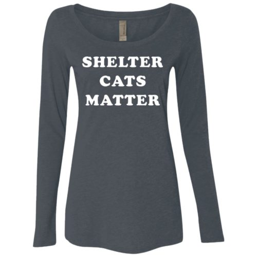 Shelter Cats Matter Fitted Scoop Neck Long Sleeve