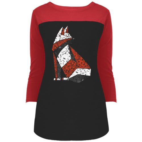 Quilted Cat Light Colorblock 3/4 Sleeve