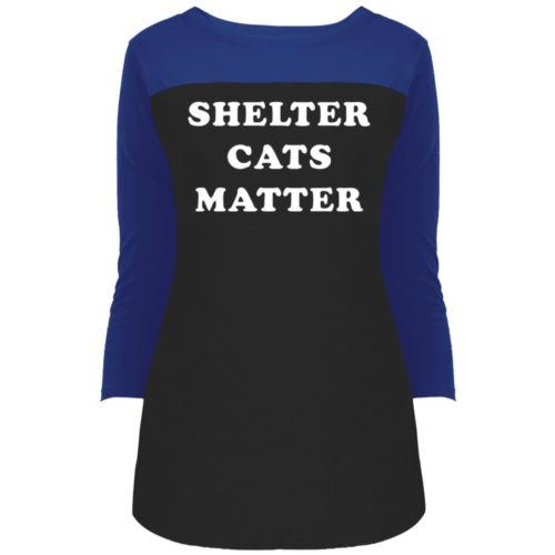 Shelter Cats Matter Colorblock 3/4 Sleeve