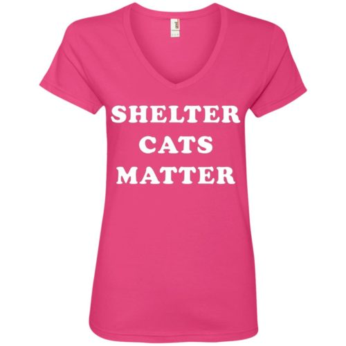 Shelter Cats Matter V-Neck Tee