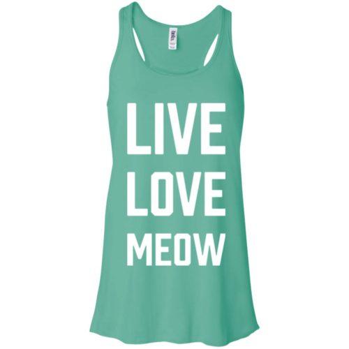 Live Love Meow Flowy Tank