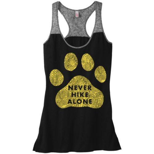 Never Hike Alone Varsity Tank