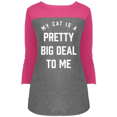 My Cat Is A Pretty Big Deal Rally 3/4 Sleeve T-Shirt