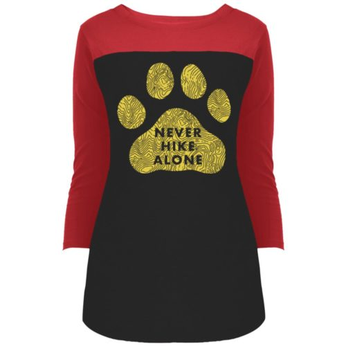 Never Hike Alone Colorblock 3/4 Sleeve