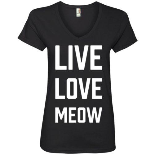 Live Love Meow V-Neck Tee