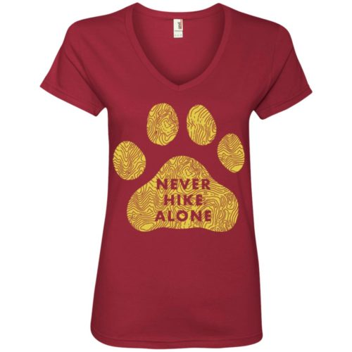 Never Hike Alone V-Neck Tee