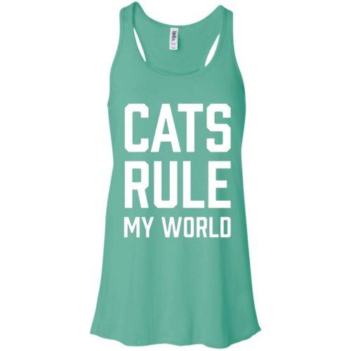 Cats Rule My World Flowy Tank