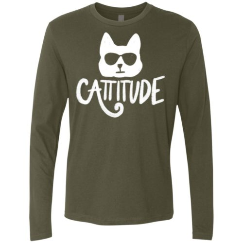 Cattitude Premium Long Sleeve Tee