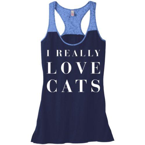 I Really Love Cats Varsity Tank