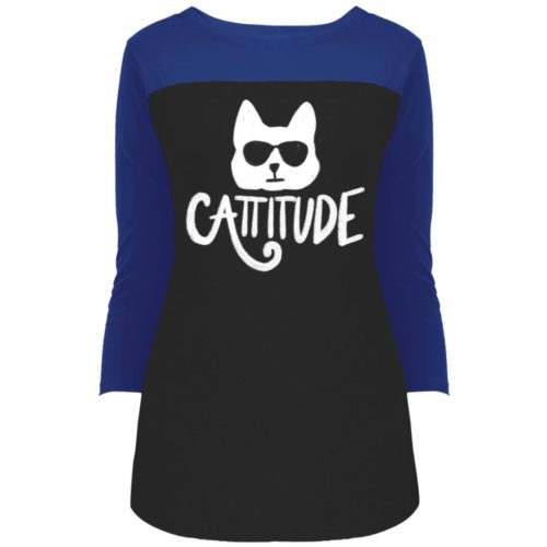 Cattitude Colorblock 3/4 Sleeve