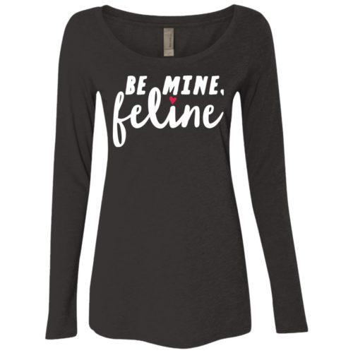Be Mine Feline Ladies' Scoop Neck Long Sleeve Shirt