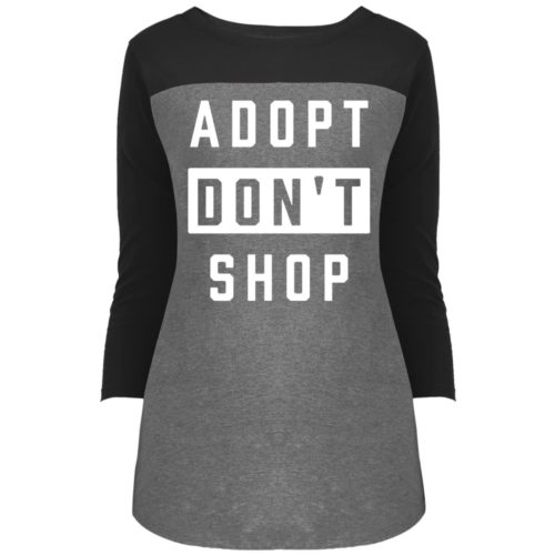 Adopt Don't Shop Colorblock 3/4 Sleeve