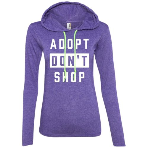 Adopt Don't Shop Fitted T-Shirt Hoodie